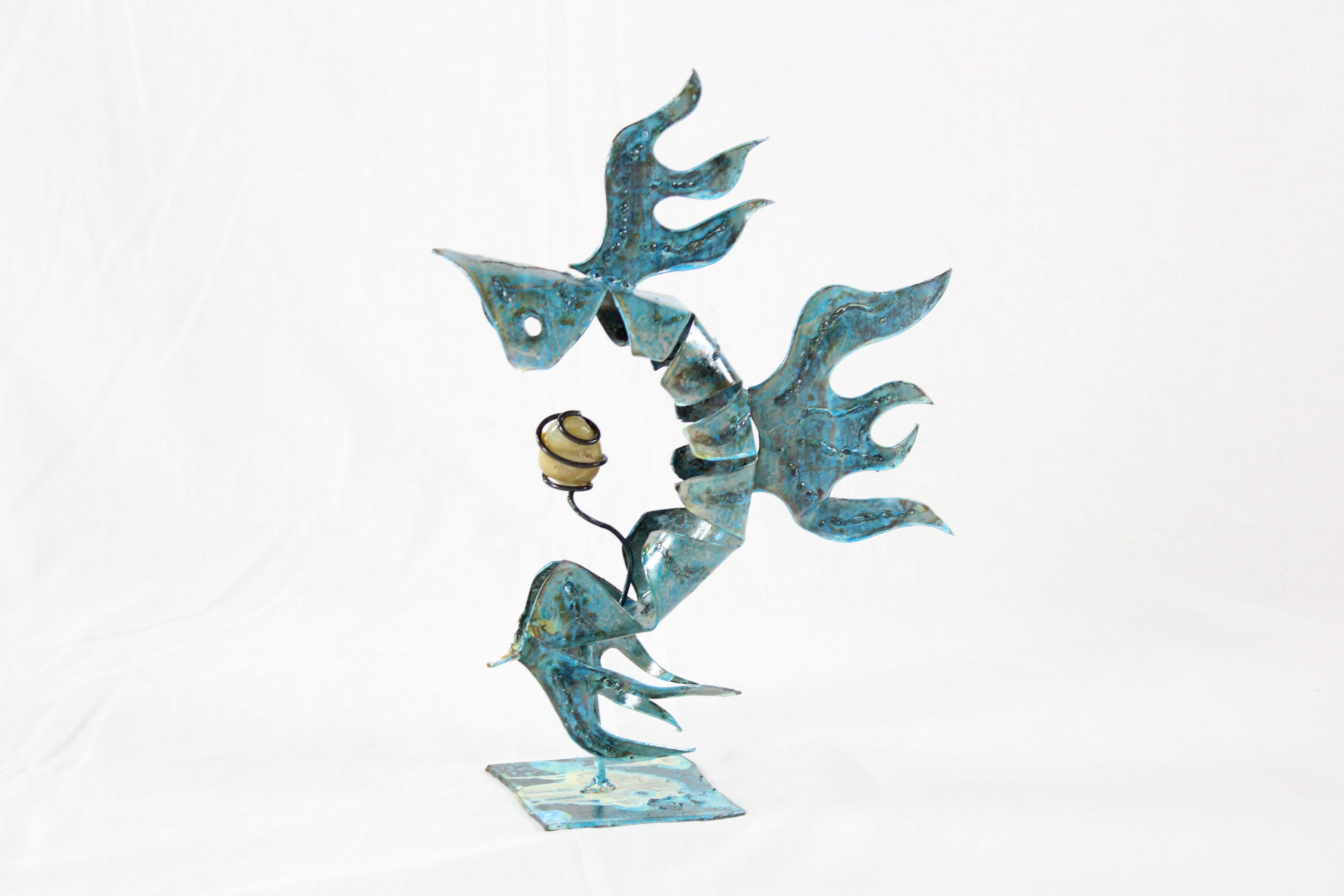 Piranha en métal