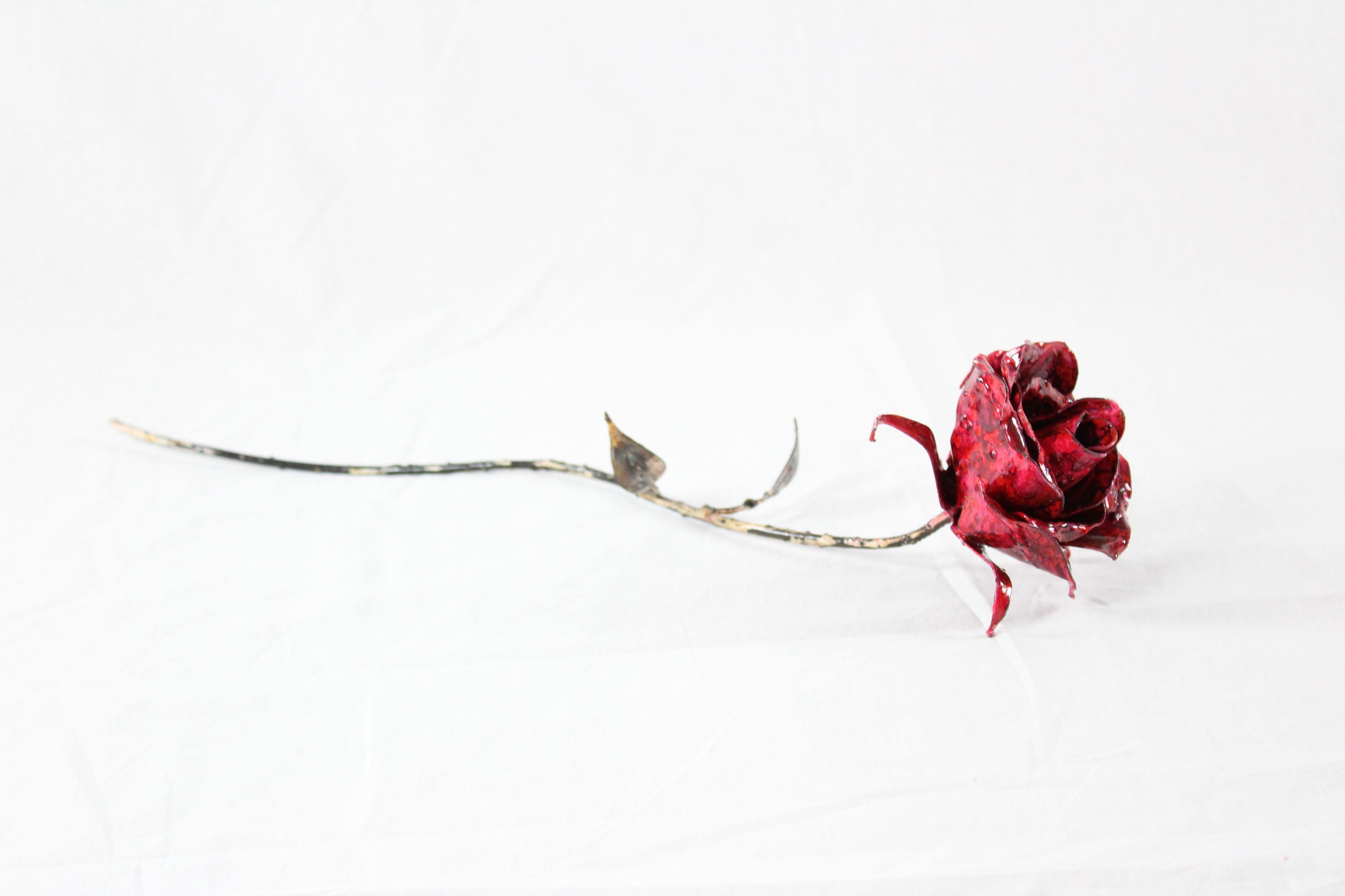 Fleur en métal