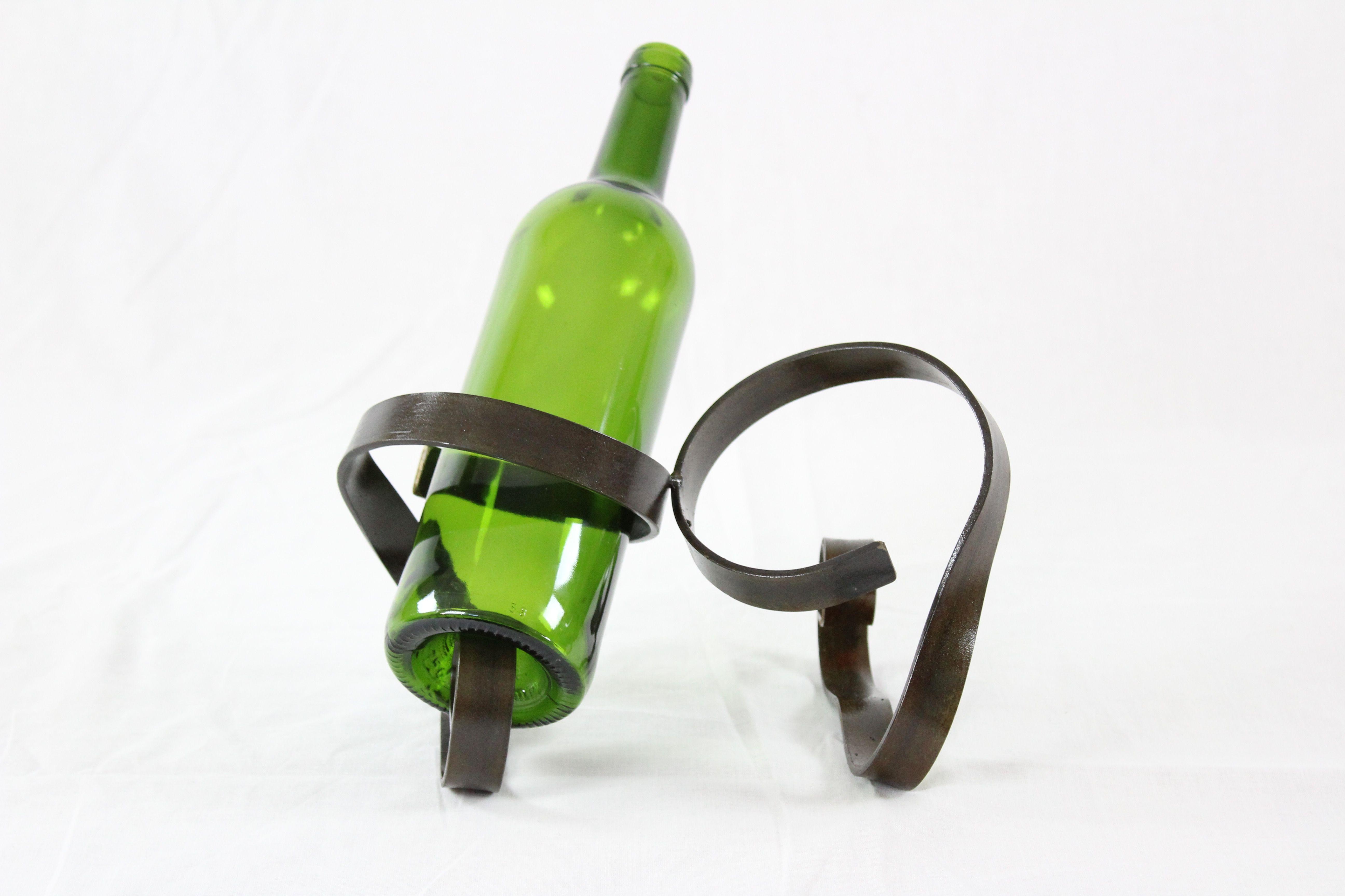 Porte-bouteille double en métal