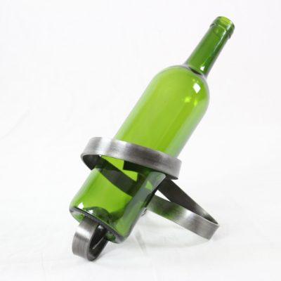 Porte-bouteille serpent - acier naturel