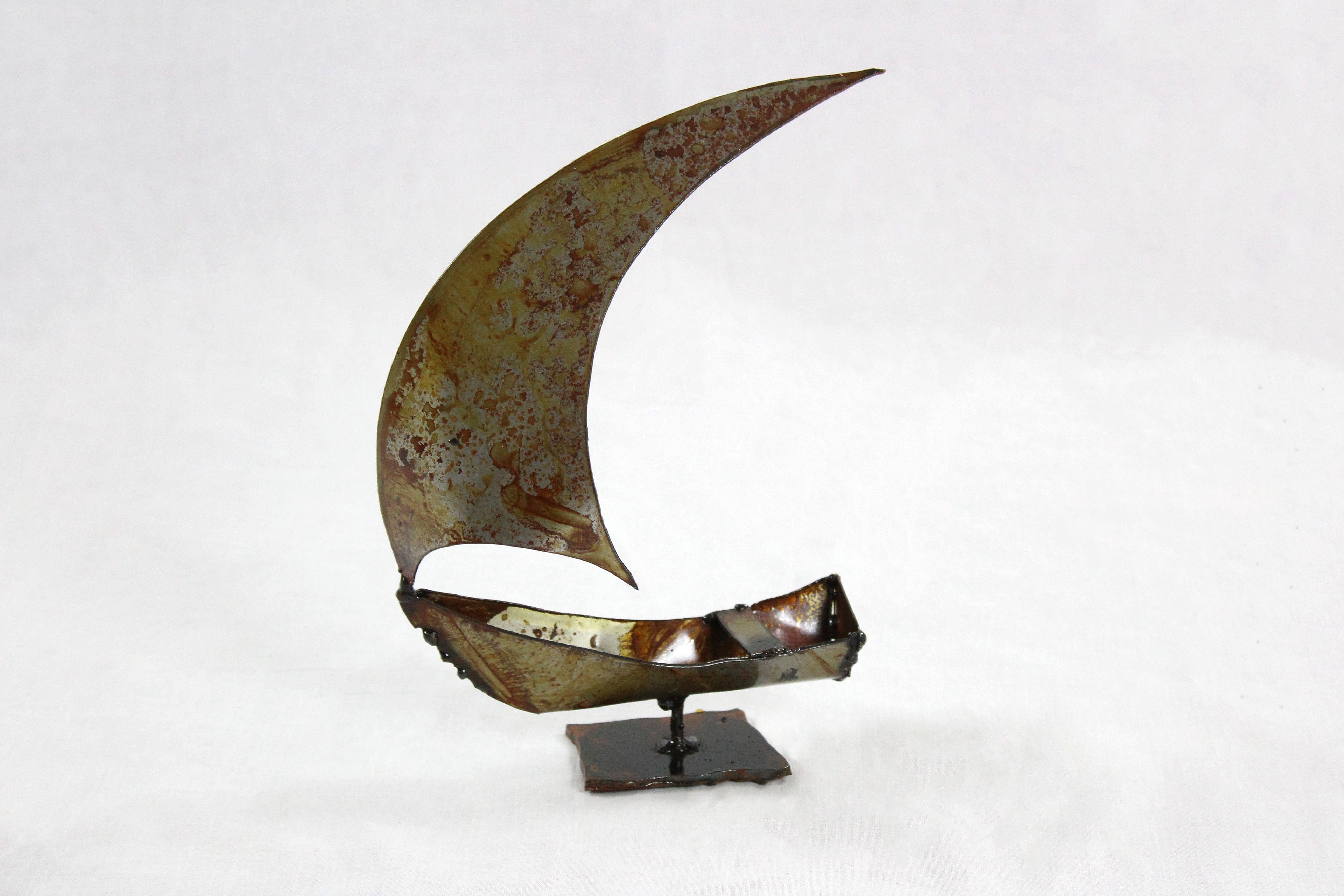 Petit bateau en métal - Guy Fautsch Sculpture