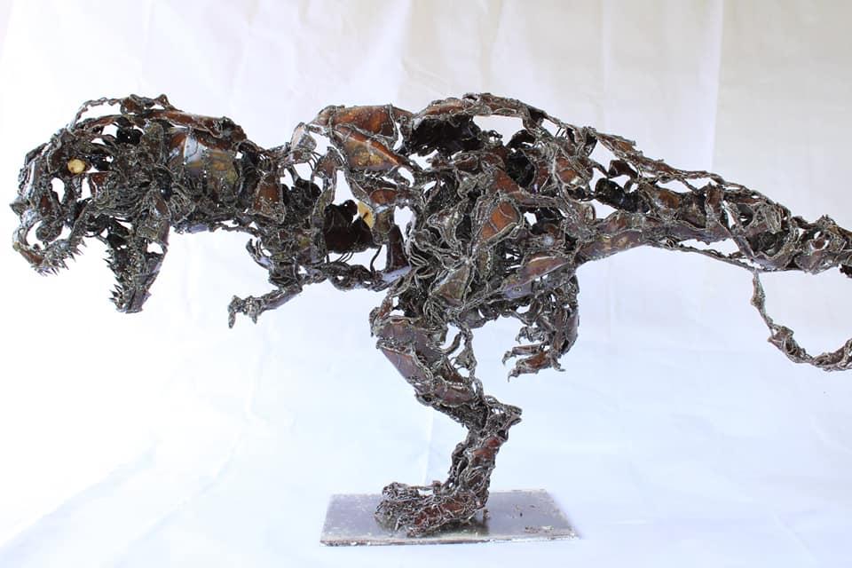 Grand T-Rex en métal
