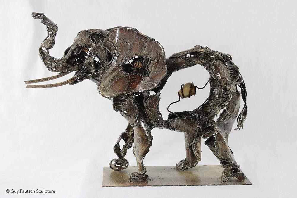 Sculpture en métal - éléphant