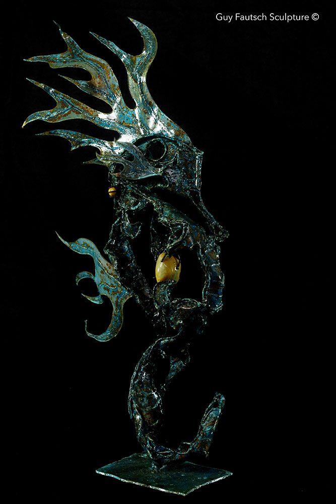 Hippocampe en métal