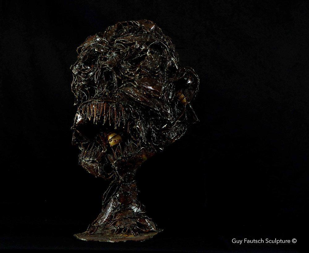 L'abomination - Sculpture en métal