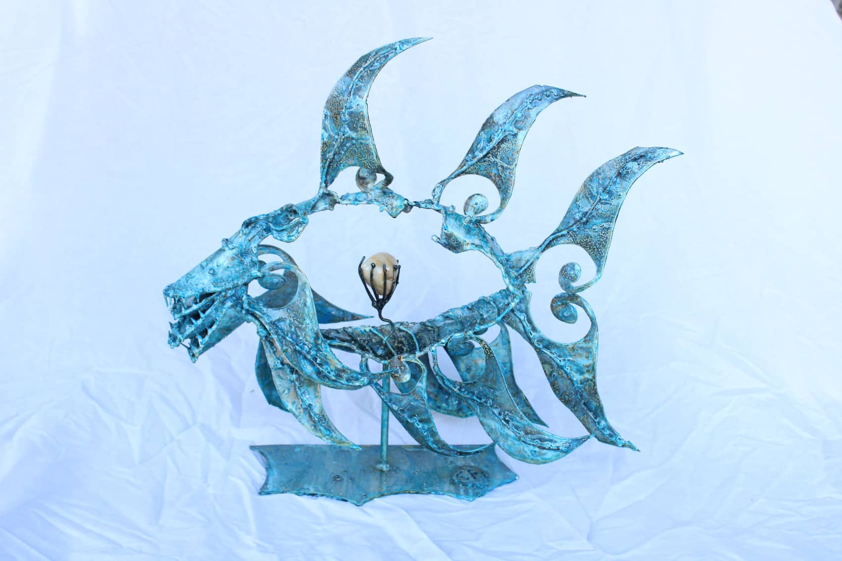 Poisson monstrueux en métal