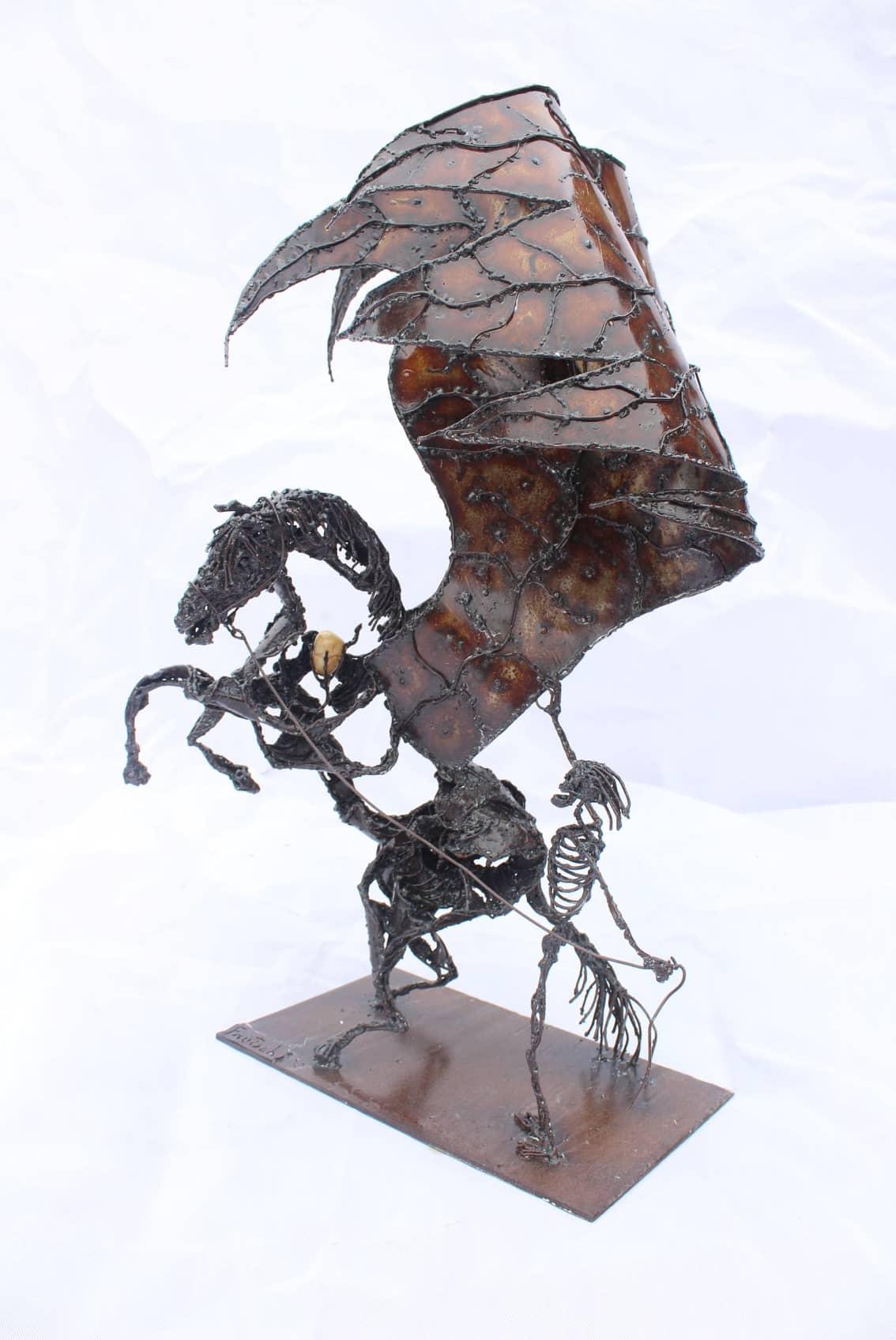 Sculpture en métal Pégase